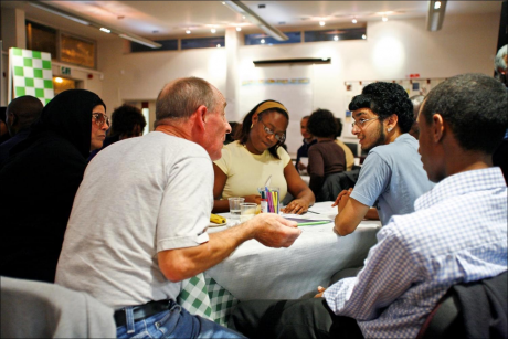 Picture from our very first world cafe in White City!