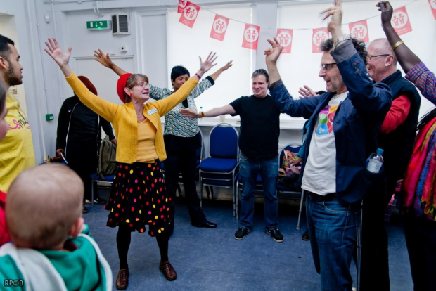 Laughter Yoga workshop in Lambeth- Photo by Ranoush