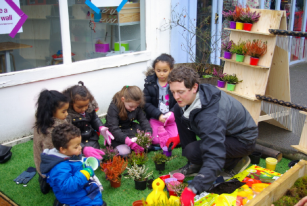 Gardening session with Under 5's