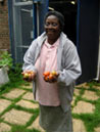 Frances and her tomatoes